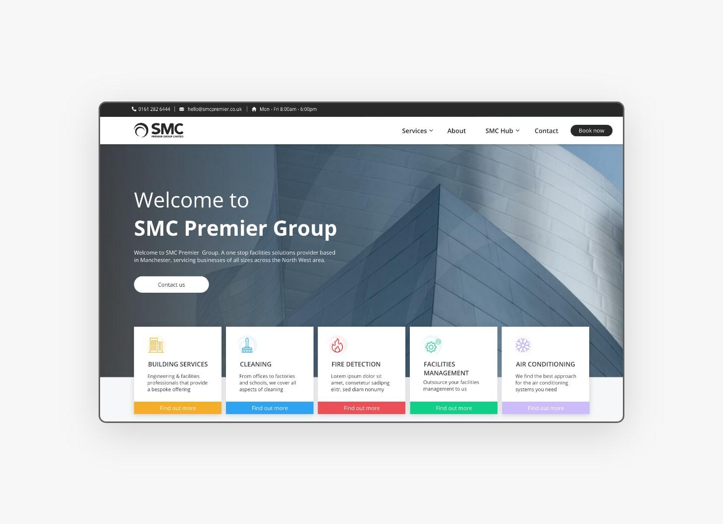 Homepage Design - SMC