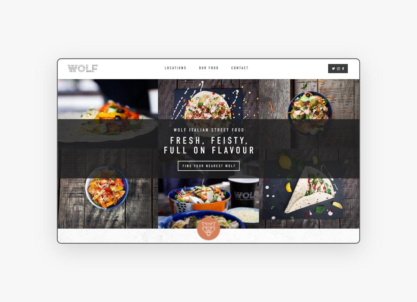 Homepage Design - WOLF